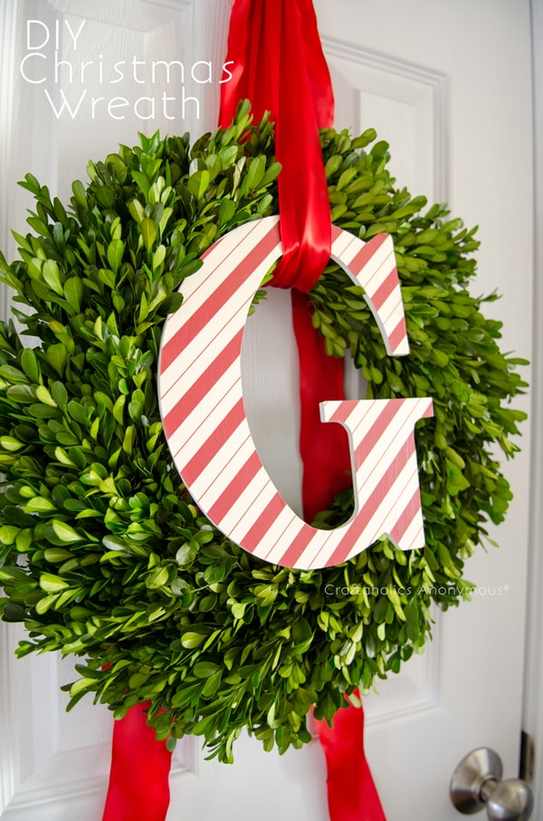 Monogram Christmas wreath tutorial