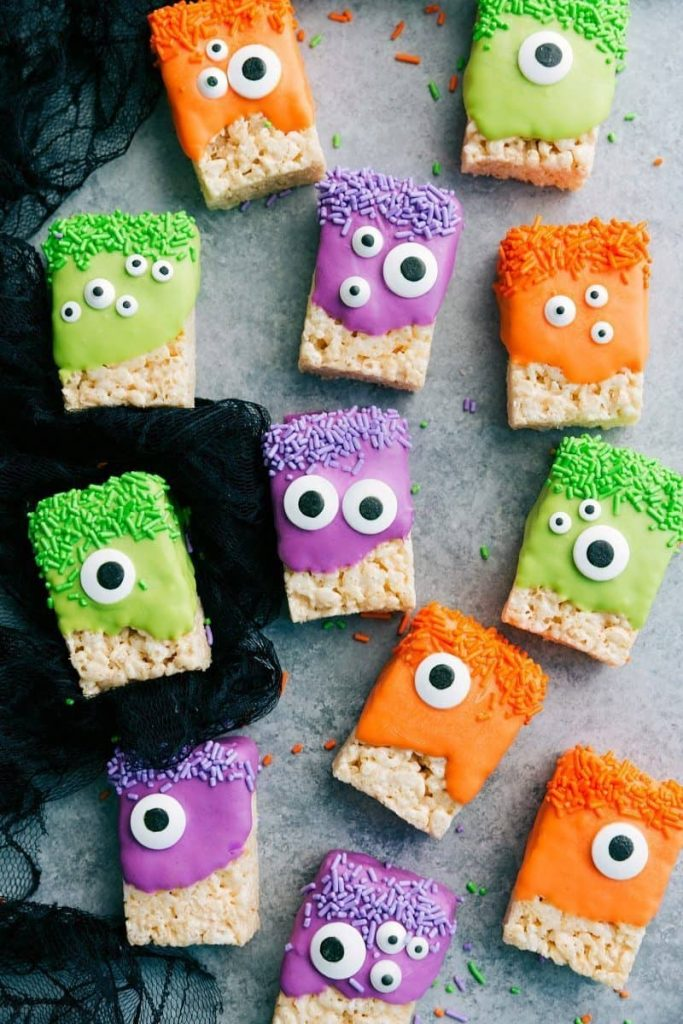 decorated monster party food