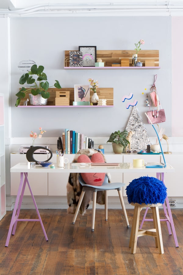 modern purple workspace