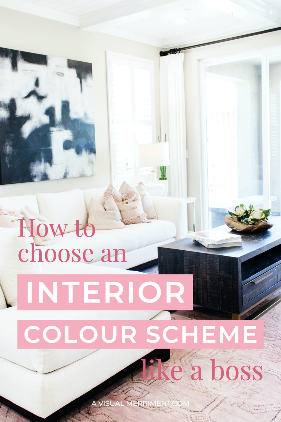 Pink interior colour scheme hero