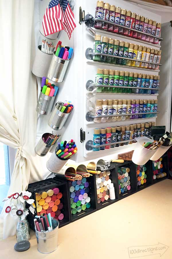 Paint and tin can craft storage