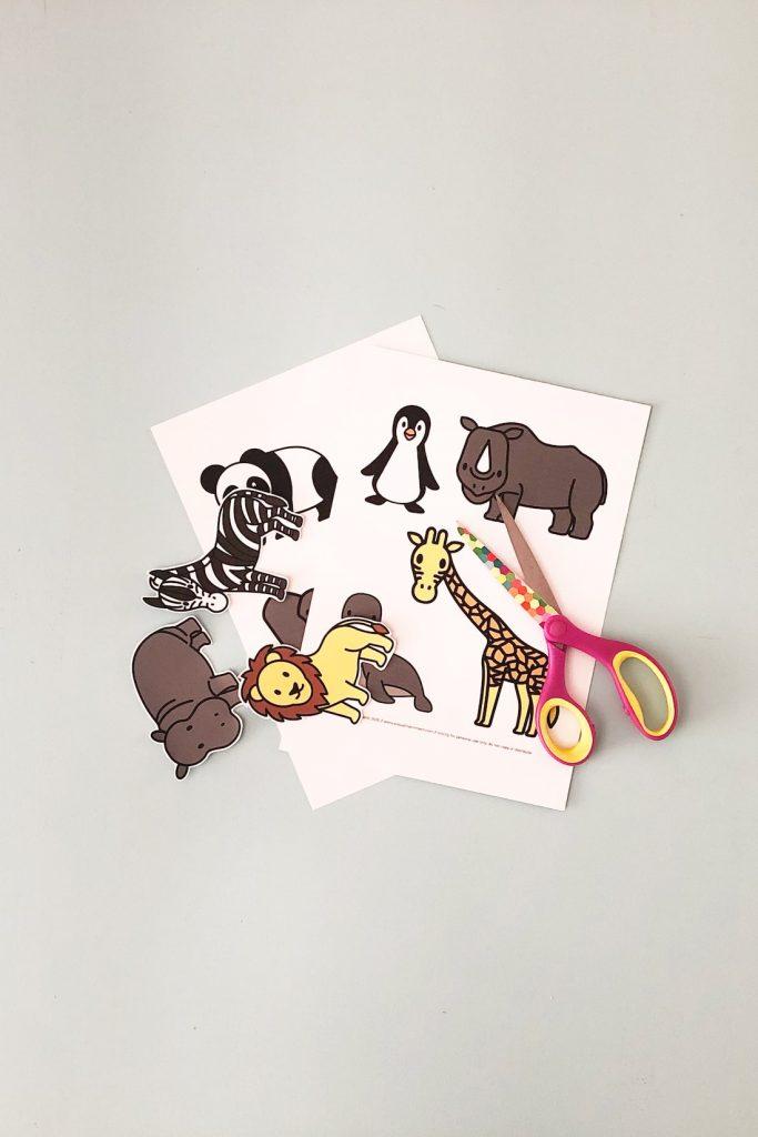 scissors showing cut animal printable kids activities