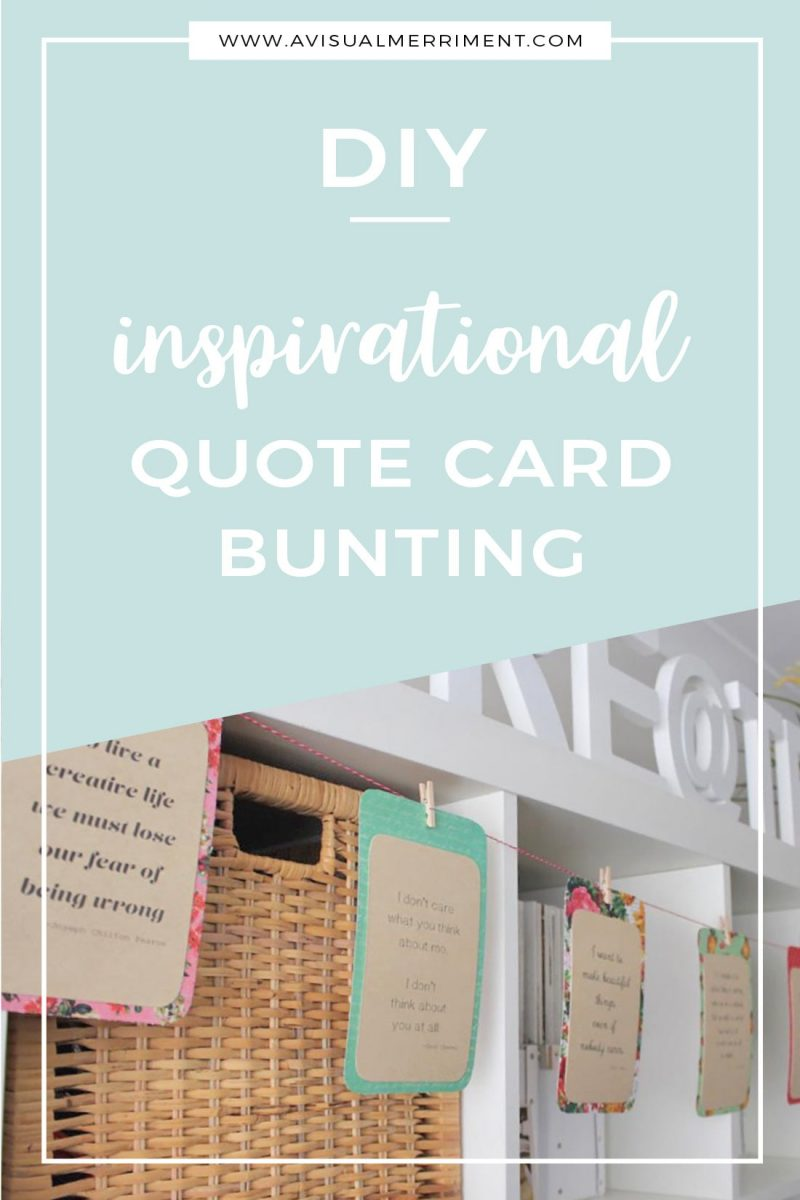 DIY quote card bunting tutorial