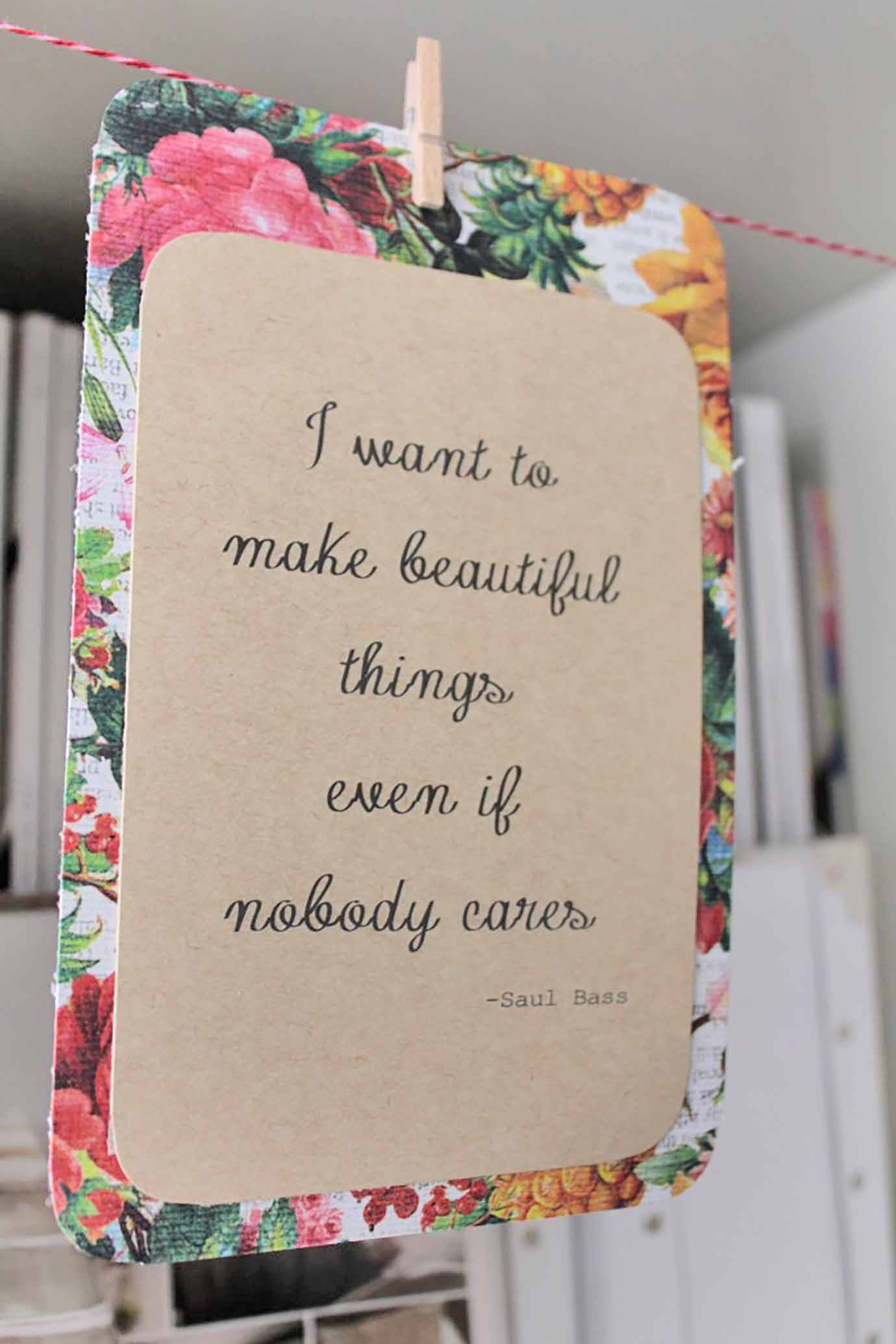 Inspirational Quote Card Bunting DIY
