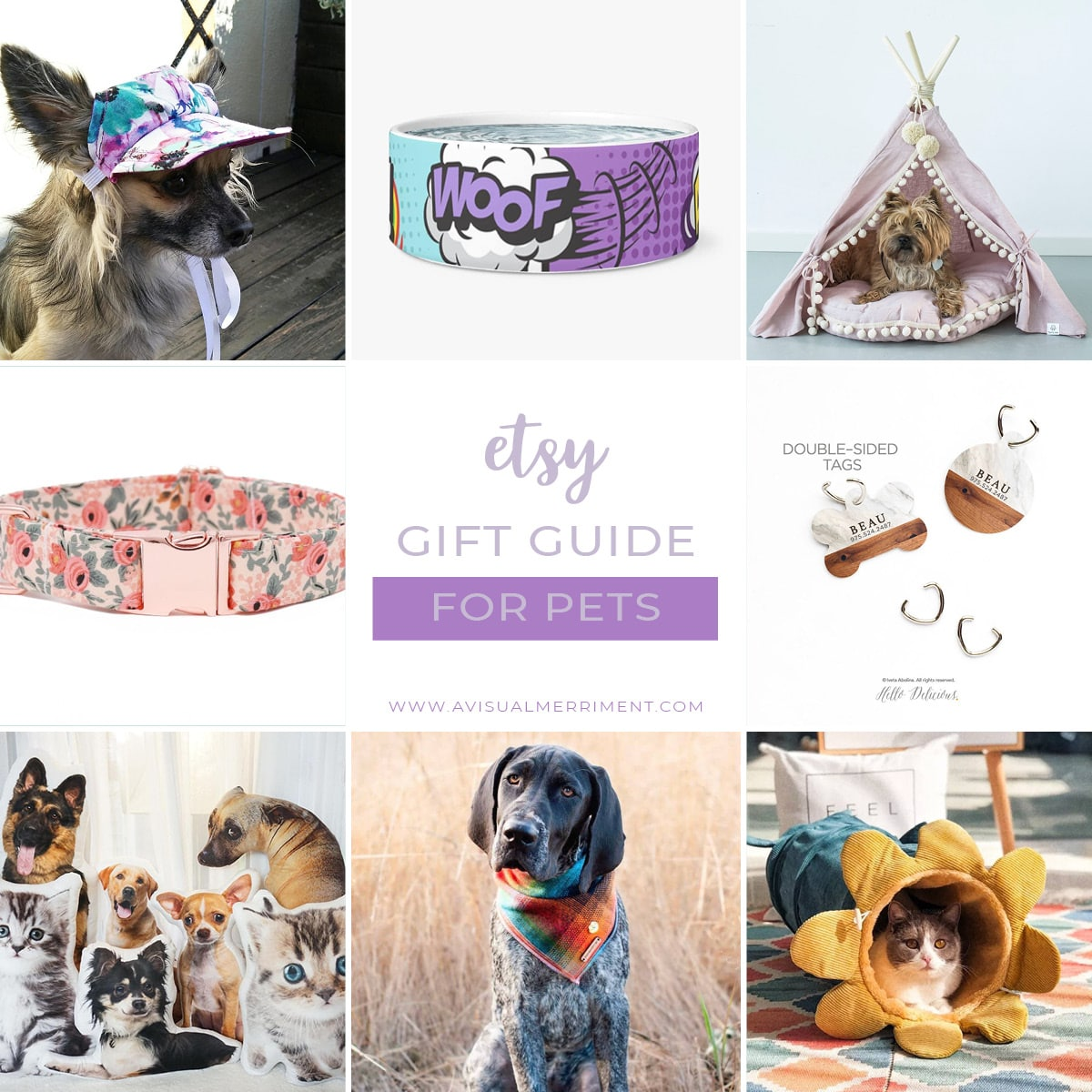 Etsy gift guide for pets and pet lovers
