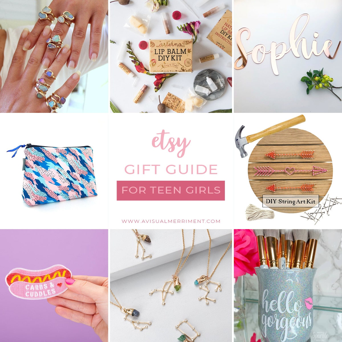 Etsy gift guide for teen girls