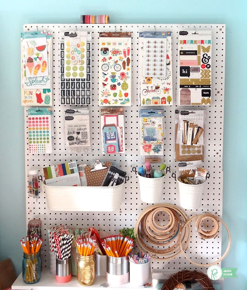 Scrapbook Sticker Pegboard