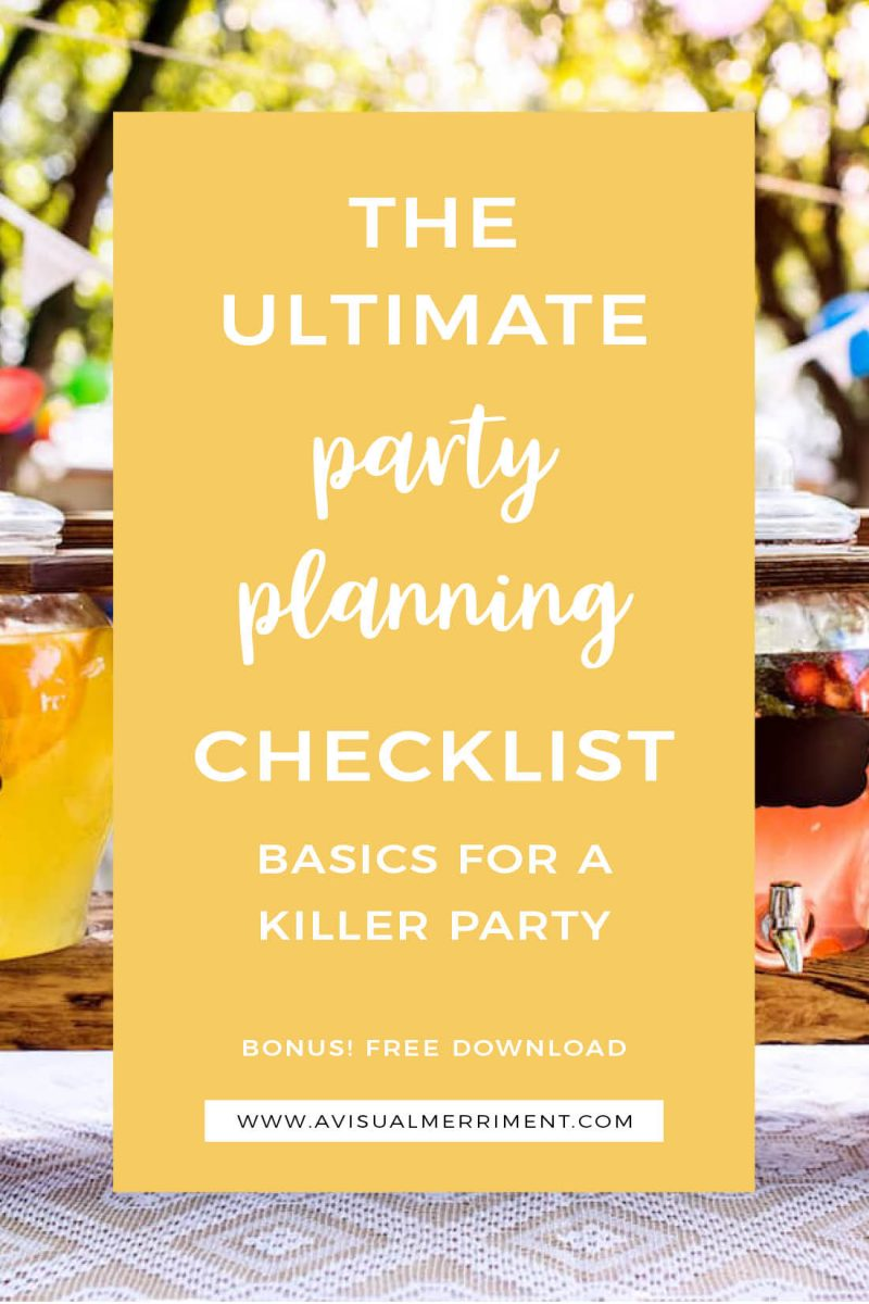 Checklist of party planning basics