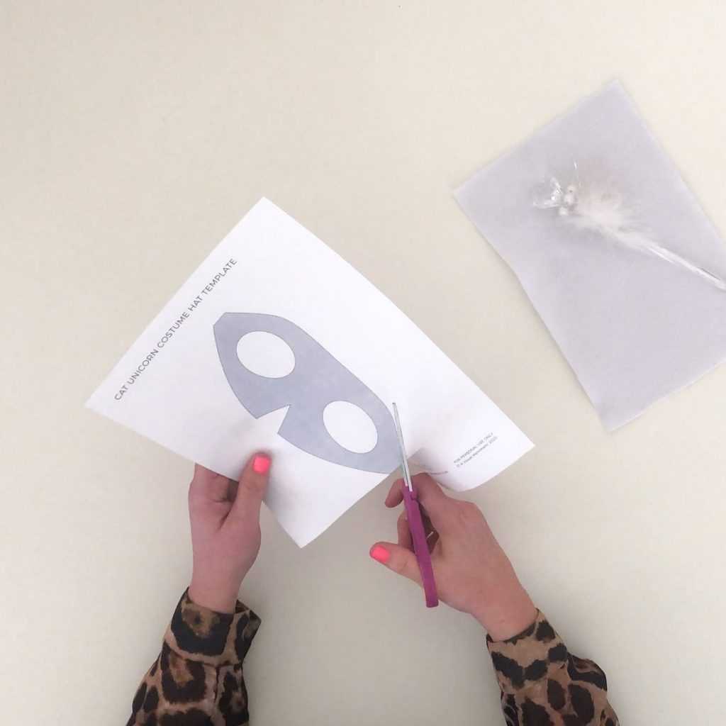 cutting cat hat paper template