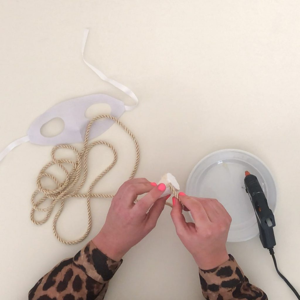 attaching cord to foam cone