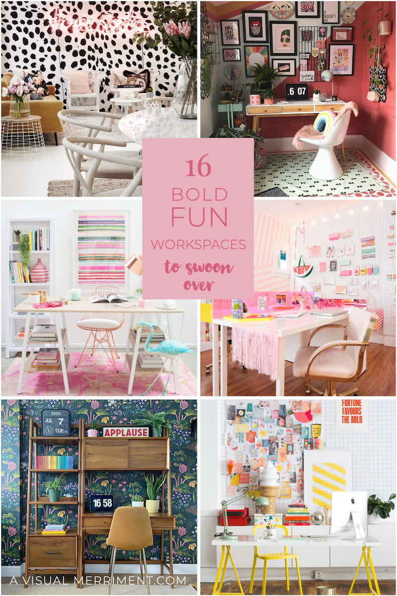 6 bold fun workspace examples graphic