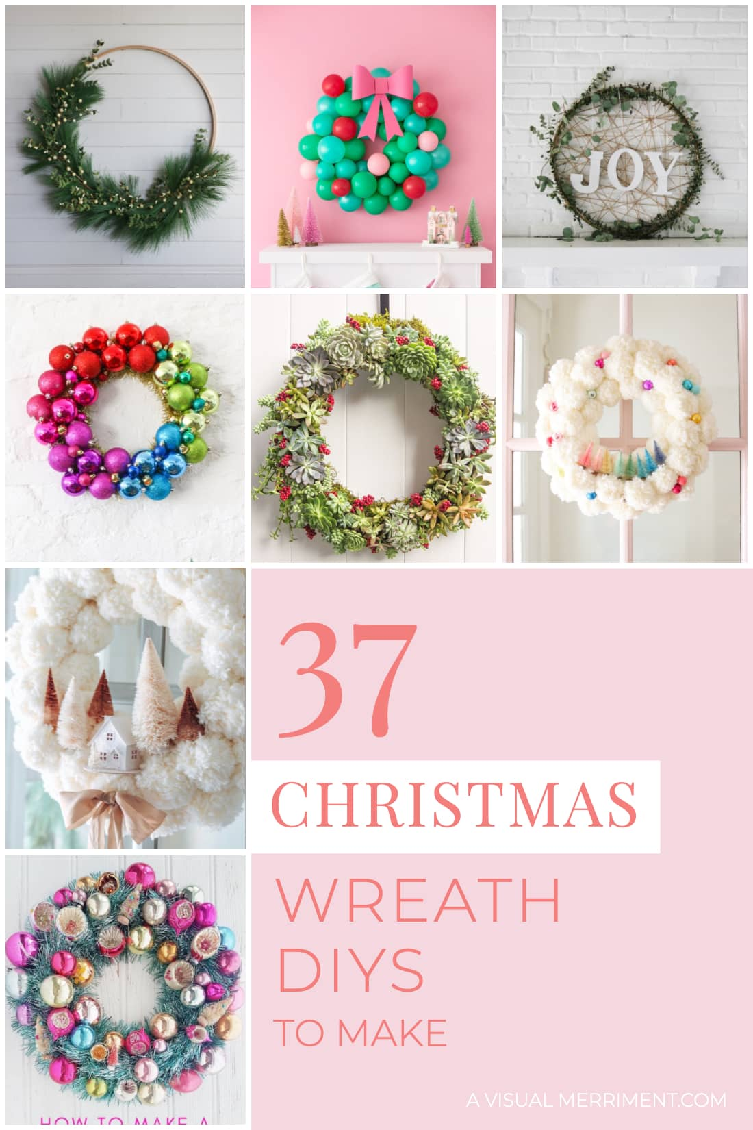 37 Diy Christmas Wreaths To Make A Visual Merriment