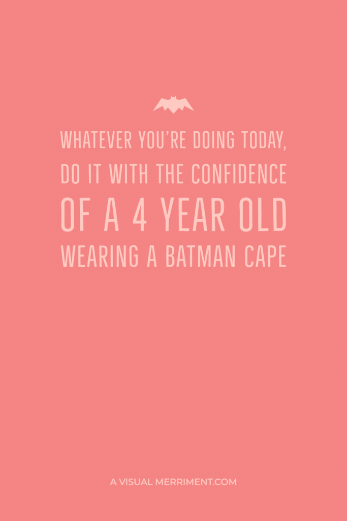 Batman cape quote graphic