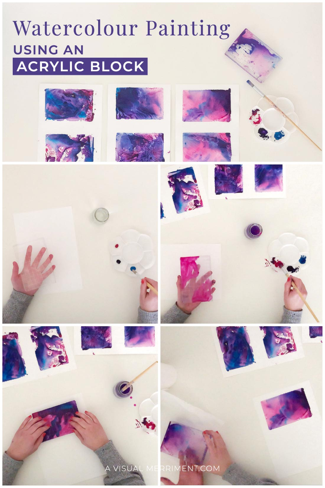 steps on painting watercolour art