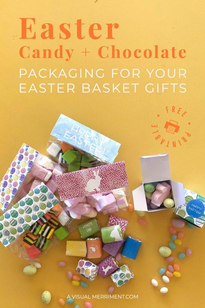 Easter treat chocolates and candy packaging
