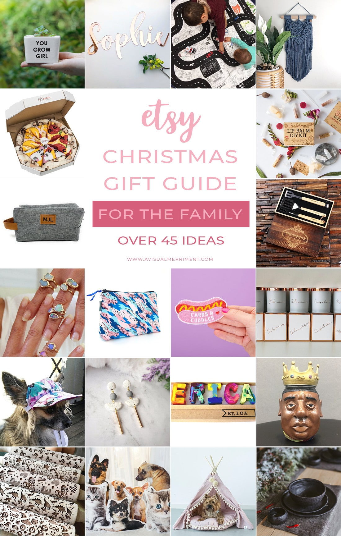 Etsy Christmas gift guide for the family