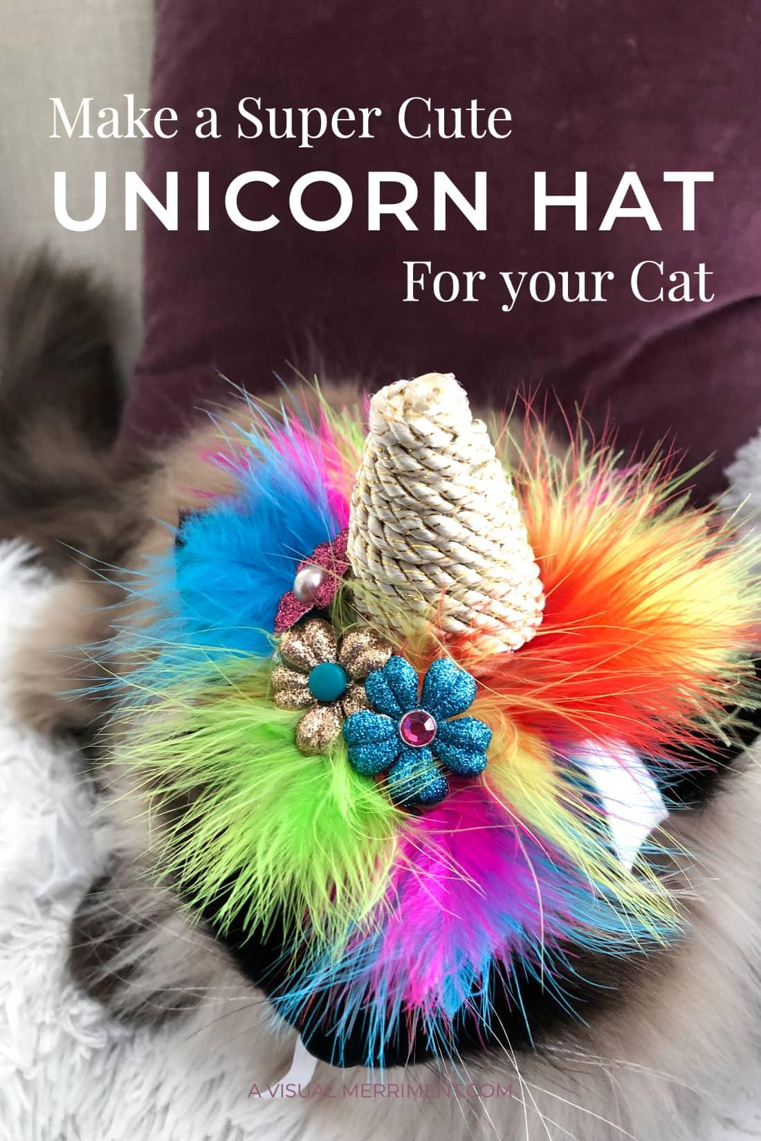 hero image of cat wearing unicorn halloween costume