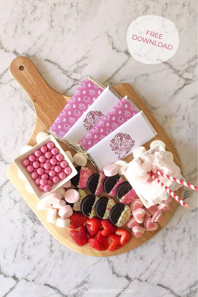 Finished valentine's dessert platter