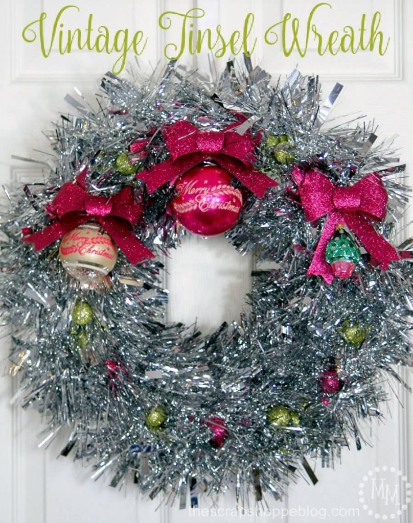 Vintage tinsel wreath DIY