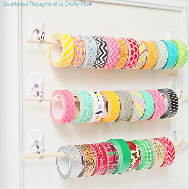 Washi tape frame organisation