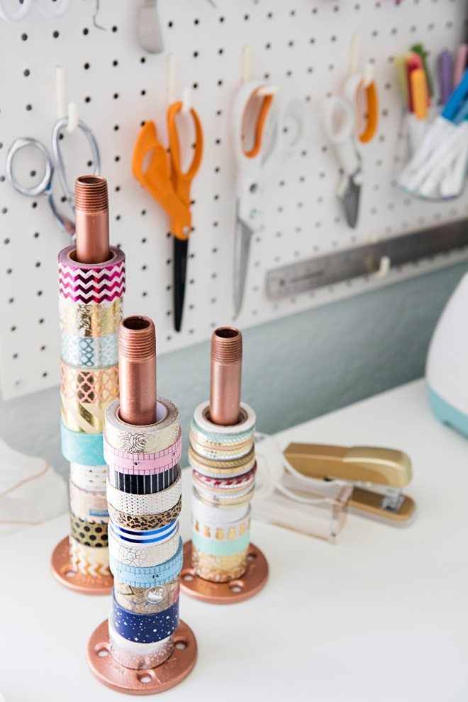 Washi tape pipe holders