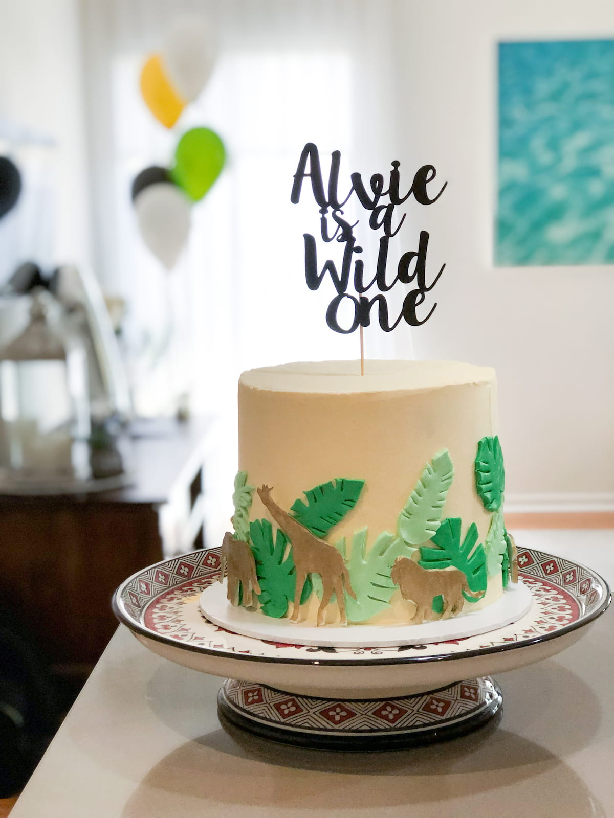 Wild one birthday cake