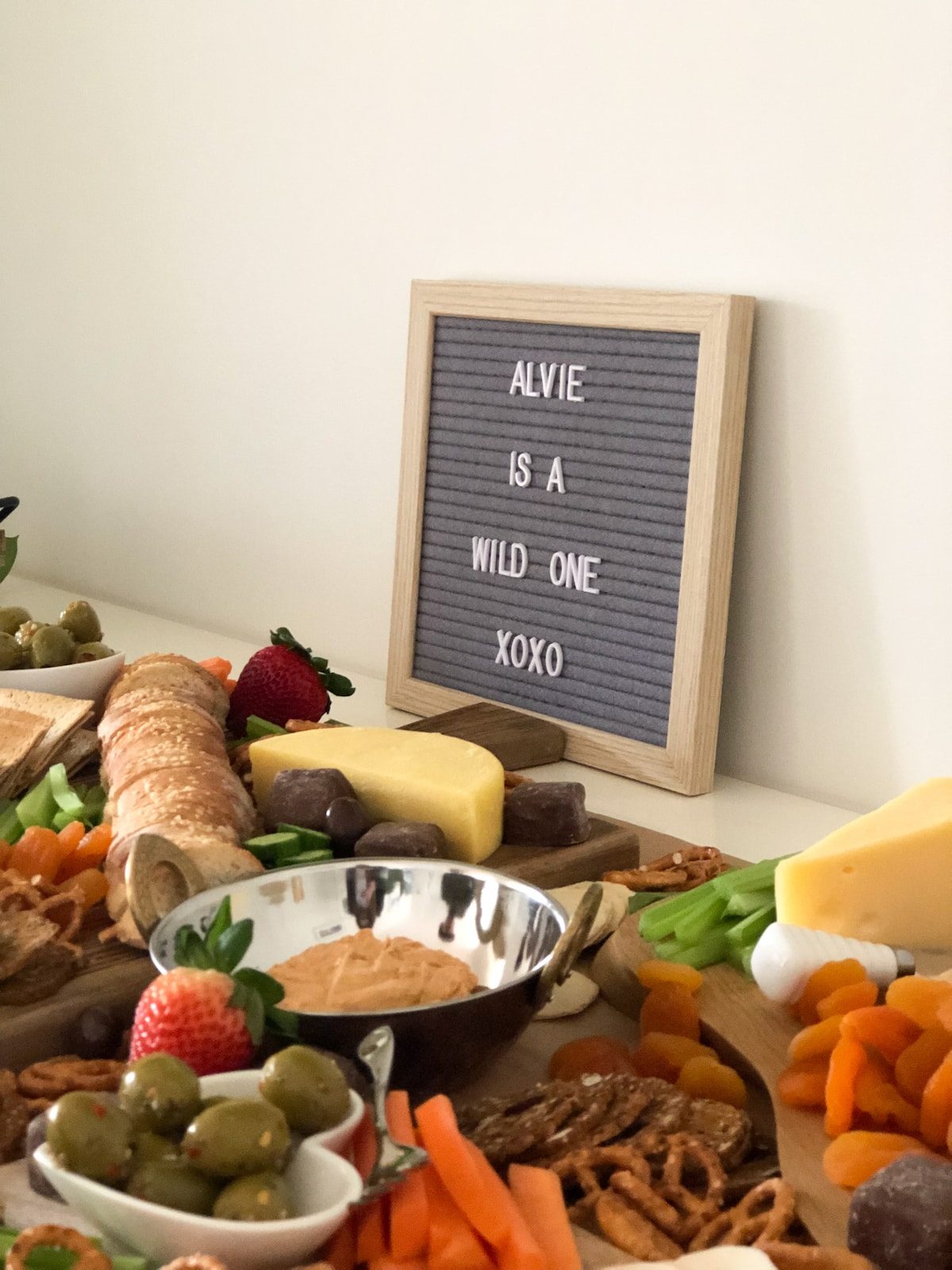 Wild one grazing table sign